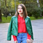 Green jacket on the streets of Bucharest